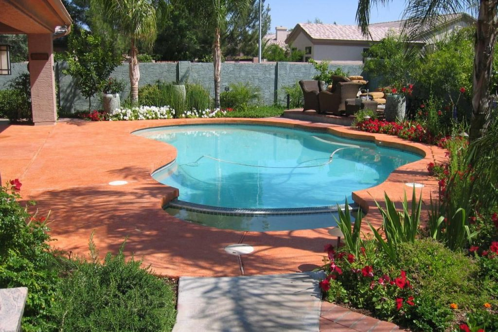 Sanford Pool Deck Painting Bright Blue Services